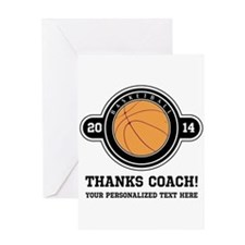 Thank you basketball coach Greeting Cards