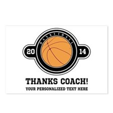 Thank you basketball coach Postcards (Package of 8