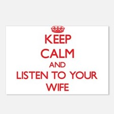 Keep Calm and Listen to your Wife Postcards (Packa