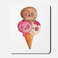 El Dia de Los Muertos Ice Cream Mousepad