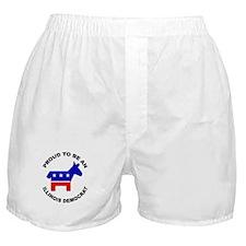 Proud Illinois Democrat Boxer Shorts