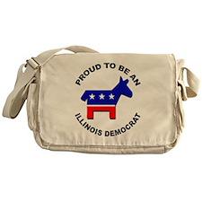 Proud Illinois Democrat Messenger Bag