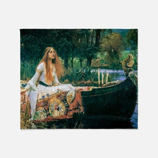 Waterhouse: Lady of Shalott Throw Blanket