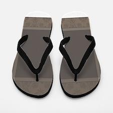 Brown Border -- Flip Flops