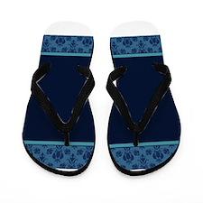 Blue Border -- Flip Flops