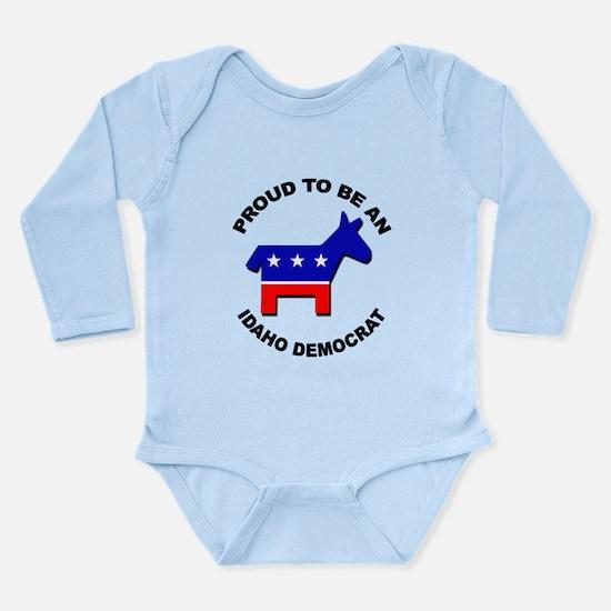 Proud Idaho Democrat Long Sleeve Infant Bodysuit