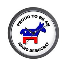 Proud Idaho Democrat Wall Clock
