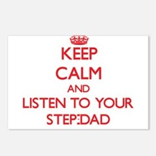 Keep Calm and Listen to your Step-Dad Postcards (P