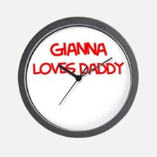 Gianna Loves Daddy Wall Clock