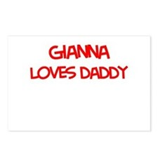 Gianna Loves Daddy Postcards (Package of 8)