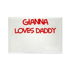 Gianna Loves Daddy Rectangle Magnet