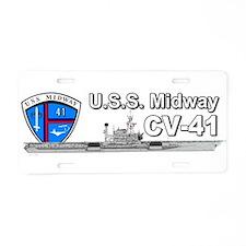 Uss Midway Cv-41 Aluminum License Plate