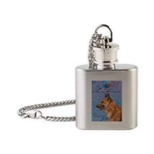 Belgian Laekenois Flask Necklace