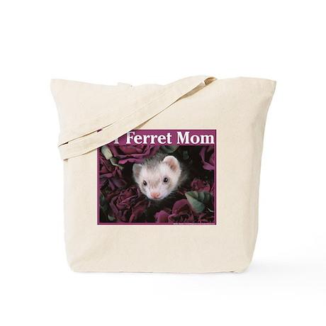 #1 Ferret Mom (flowers) - Tote Bag
