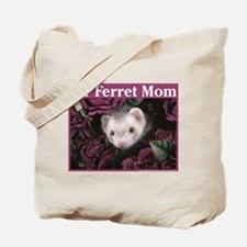 #1 Ferret Mom (flowers) - Tote Bag