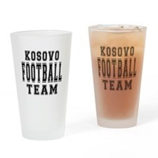 Kosovo Football Team Drinking Glass