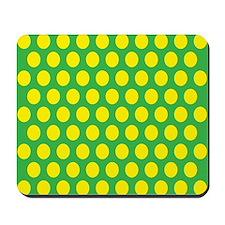 # Green And Yellow Polka Dots Mousepad