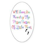 Little Feet Oval Sticker