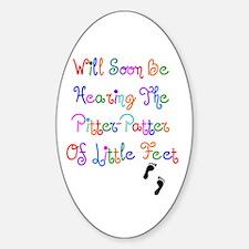 Little Feet Oval Decal
