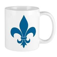 Blue Fleur de lis French Pattern Parisian Design M