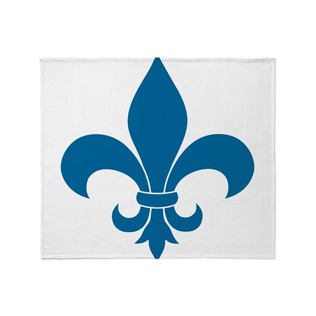 Blue Fleur De Lis French Pattern Parisian Design T By