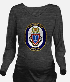 USS Chafee DDG-90 Long Sleeve Maternity T-Shirt