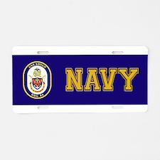 DDG 86 USS Shoup Aluminum License Plate