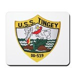 USS TINGEY Mousepad