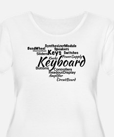 Keyboard Word Cloud Plus Size T-Shirt