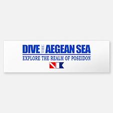 Dive The Aegean Sea Bumper Bumper Bumper Sticker