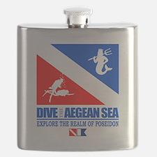 Dive The Aegean Sea Flask