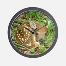 spotted fawn Wall Clock