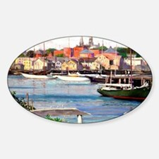 Gloucester Harbor - Painting by Wil Decal