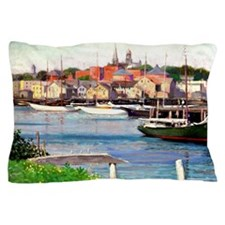 Gloucester Harbor - Painting by Willia Pillow Case