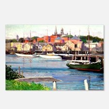 Gloucester Harbor - Paint Postcards (Package of 8)