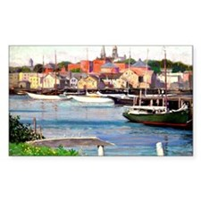 Gloucester Harbor - Painting b Decal