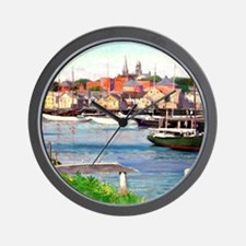 Gloucester Harbor - Painting by William Wall Clock