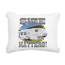 Size Matters Fifth Wheel Rectangular Canvas Pillow