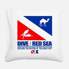 Dive The Red Sea Square Canvas Pillow