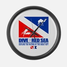 Dive The Red Sea Large Wall Clock