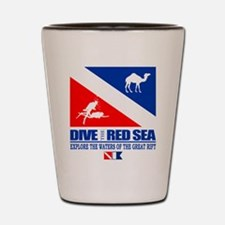 Dive The Red Sea Shot Glass