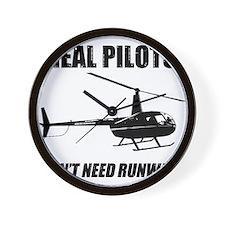 Real Pilots Dont Need Runways Wall Clock