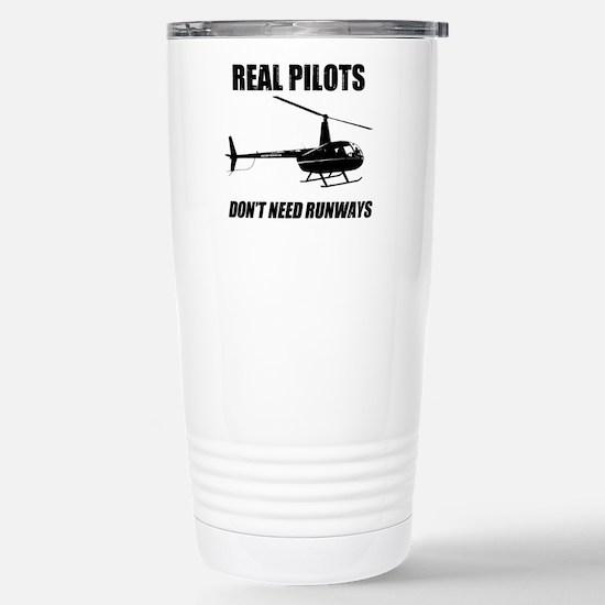 Real Pilots Dont Need Runways Travel Mug
