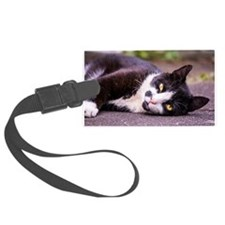 Black and white cat Luggage Tag