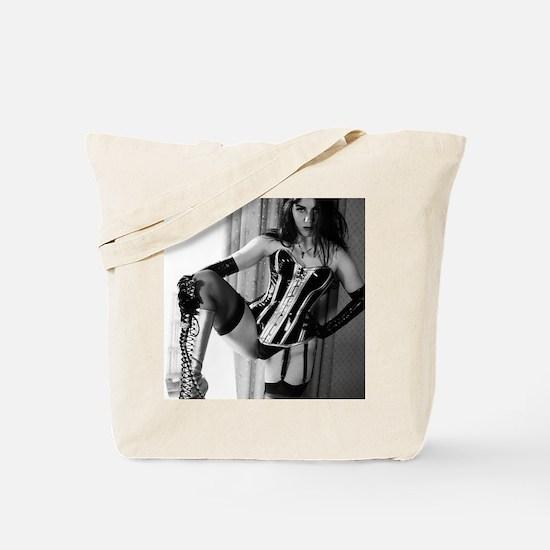 Vinyl Queen In Corset Tote Bag