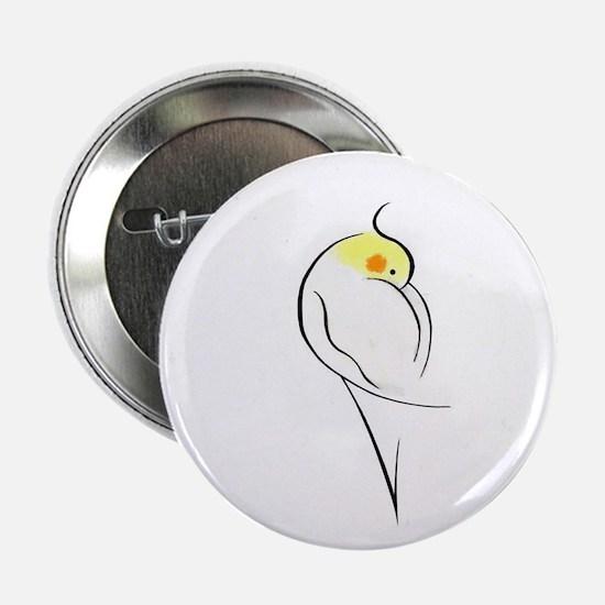 Lutino Cockatiel Button