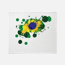 Brazil Flag- Throw Blanket