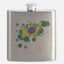 Brazil Flag- Flask
