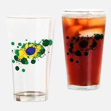 Brazil Flag- Drinking Glass