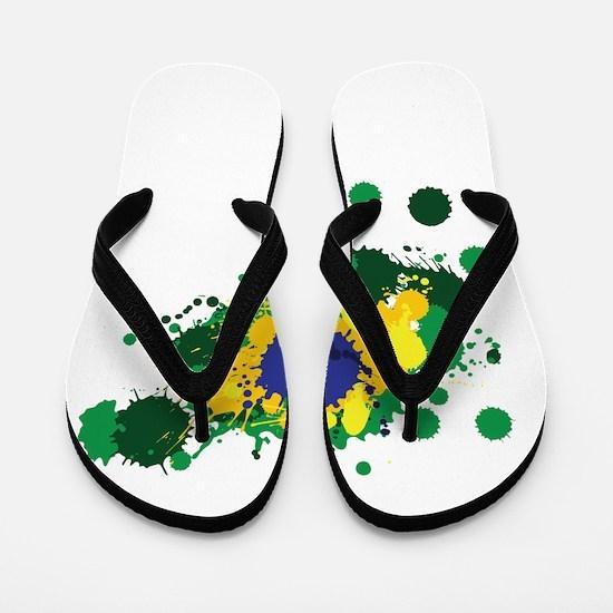 Brazil Flag- Flip Flops